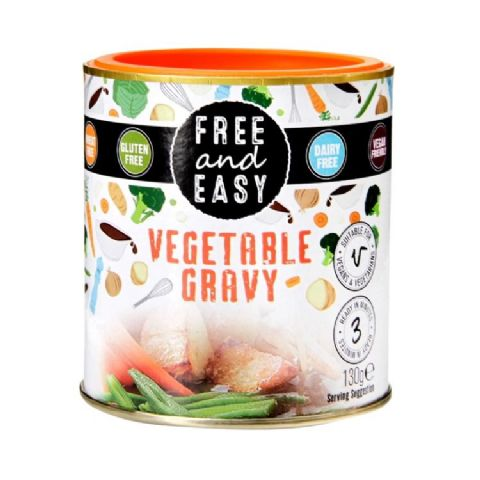 Free & Easy Vegetable Gravy Mix Vegan Gluten & Dairy Free 130g